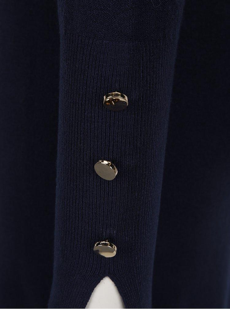 Tmavě modré svetrové šaty VERO MODA Happy Aura