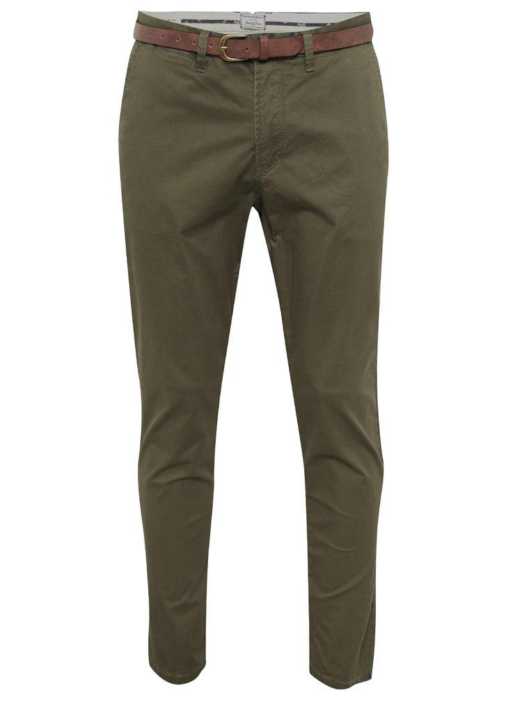 Zelené chino kalhoty Jack & Jones Cody