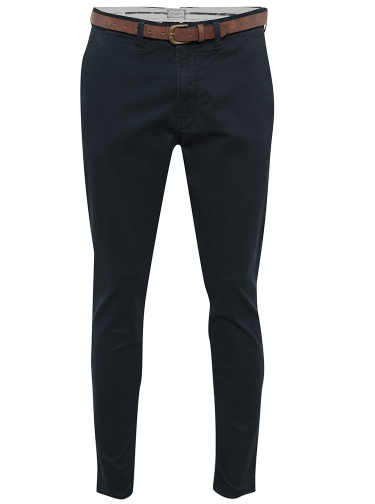Tmavě modré chino kalhoty Jack & Jones Cody