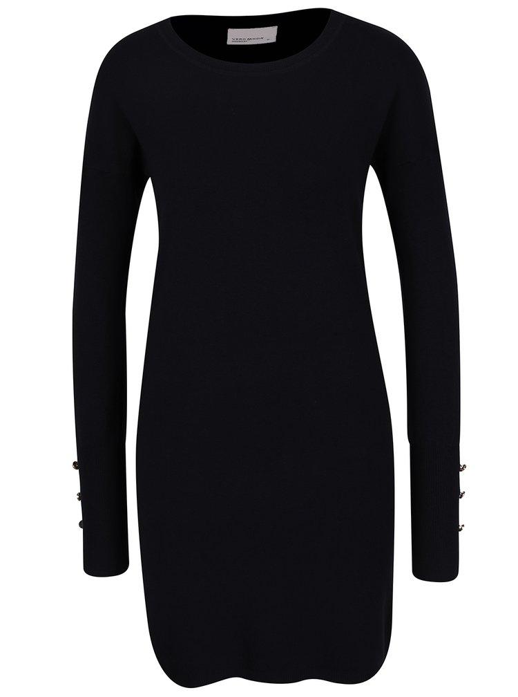 Černé svetrové šaty VERO MODA Happy Aura