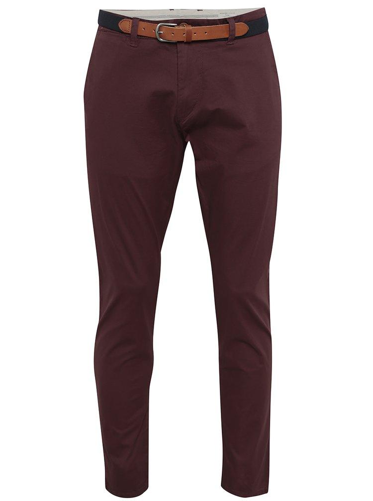 Pantaloni burgundy chino pentru barbati - Selected Homme Yard