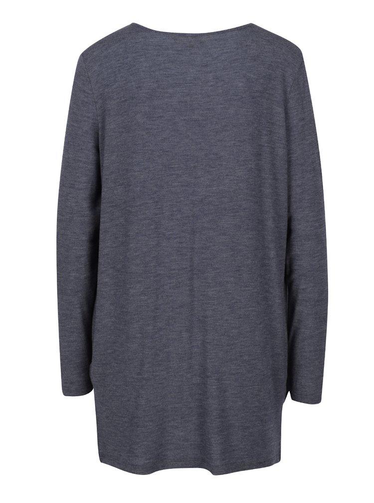 Bluză drapată suprapusă albastru melanj - VERO MODA Honie