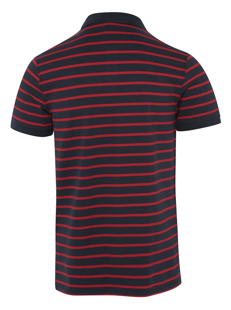 Tricou polo în dungi bleumarin cu roșu Selected Homme Aro