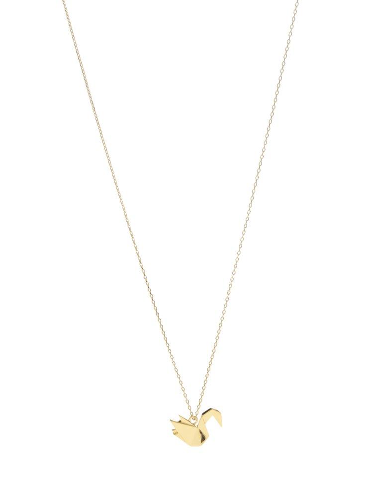 Colier auriu cu pandativ pasare Pieces Adel