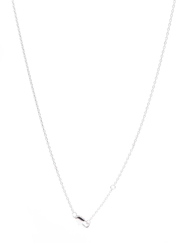 Řetízek ve stříbrné barvě s přívěskem labutě Pieces Adel