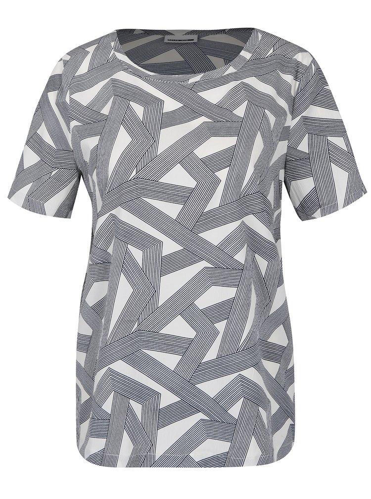 Krémové vzorované tričko Noisy May Trigger
