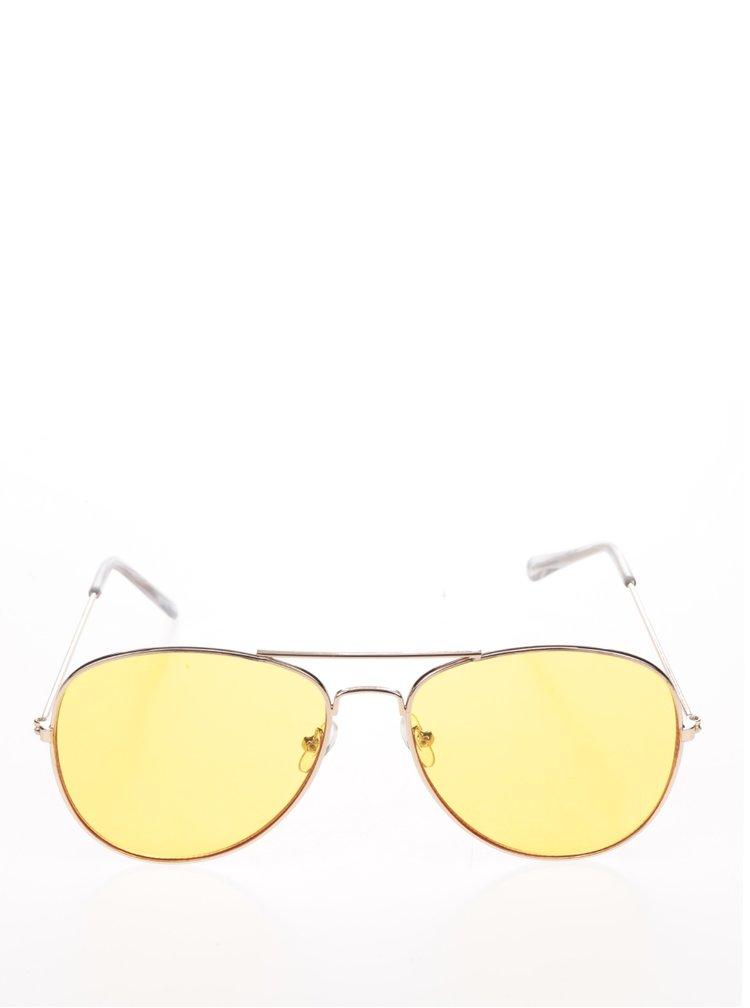 Sluneční brýle v růžovozlaté barvě Pieces Nea