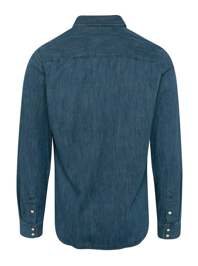 Cămasă albastră slim fit din denim Jack & Jones New One