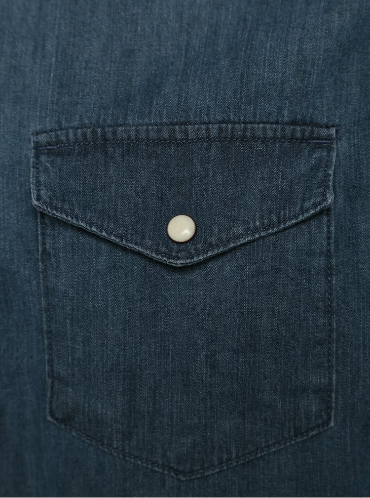 Cămasă albastră slim fit din denim Jack & Jones New One
