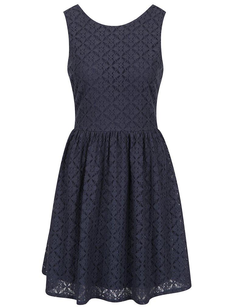 Modré krajkované šaty VERO MODA Arona