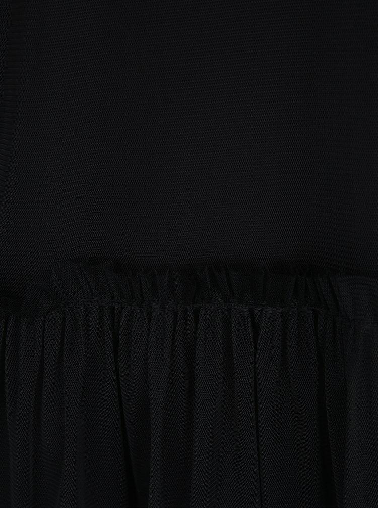 Rochie neagră midi din plasă Noisy May Thea