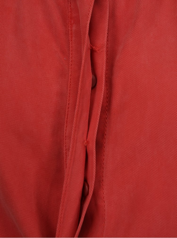 Červené košilové šaty bez rukávů s.Oliver