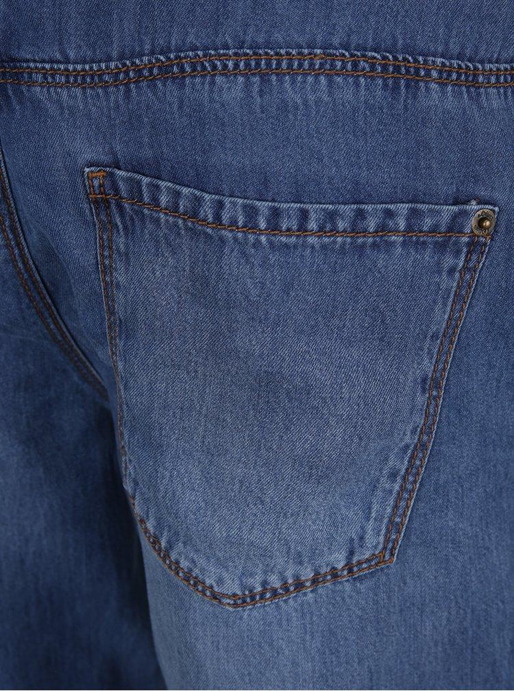 Modré dámské džínové kraťasy s páskem s.Oliver