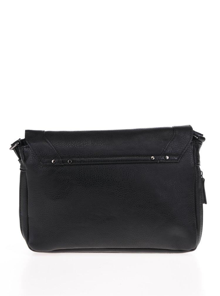 Černá crossbody kabelka s ozdobnými detaily Pieces Loulou