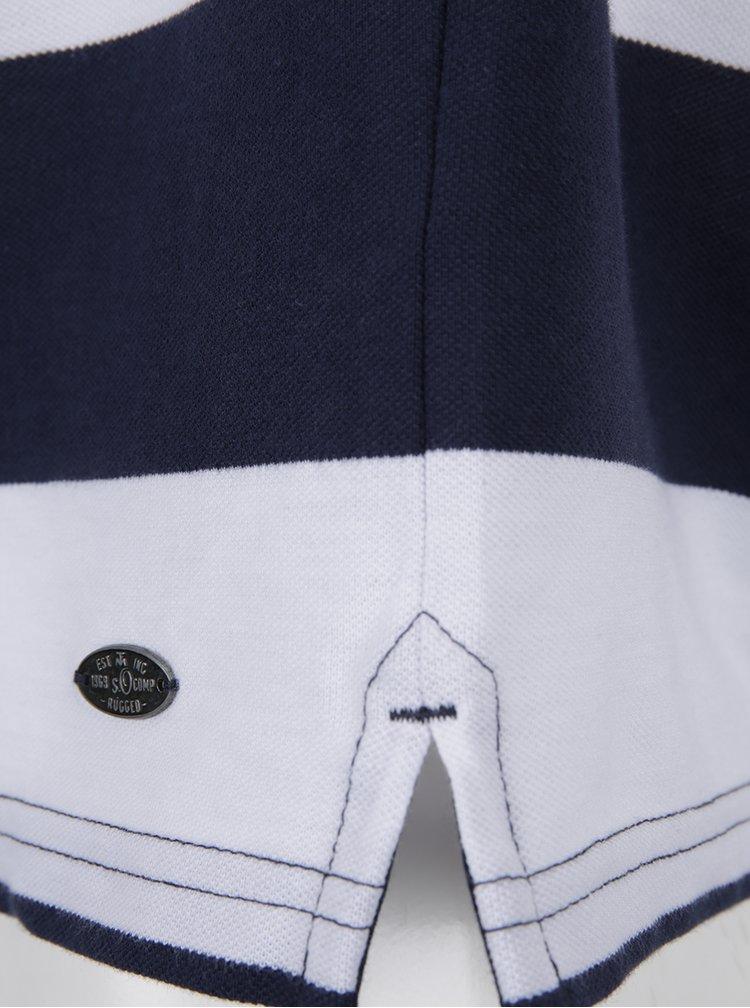 Bílo-modré pánské pruhované polo triko s.Oliver