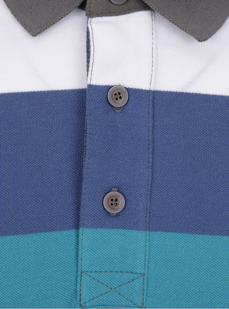 Tricou polo în dungi albastru cu mov s.Oliver