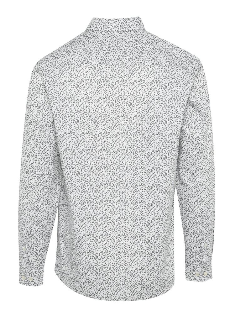 Camasa alba regular fit cu print abstract - Selected Homme Two Sel