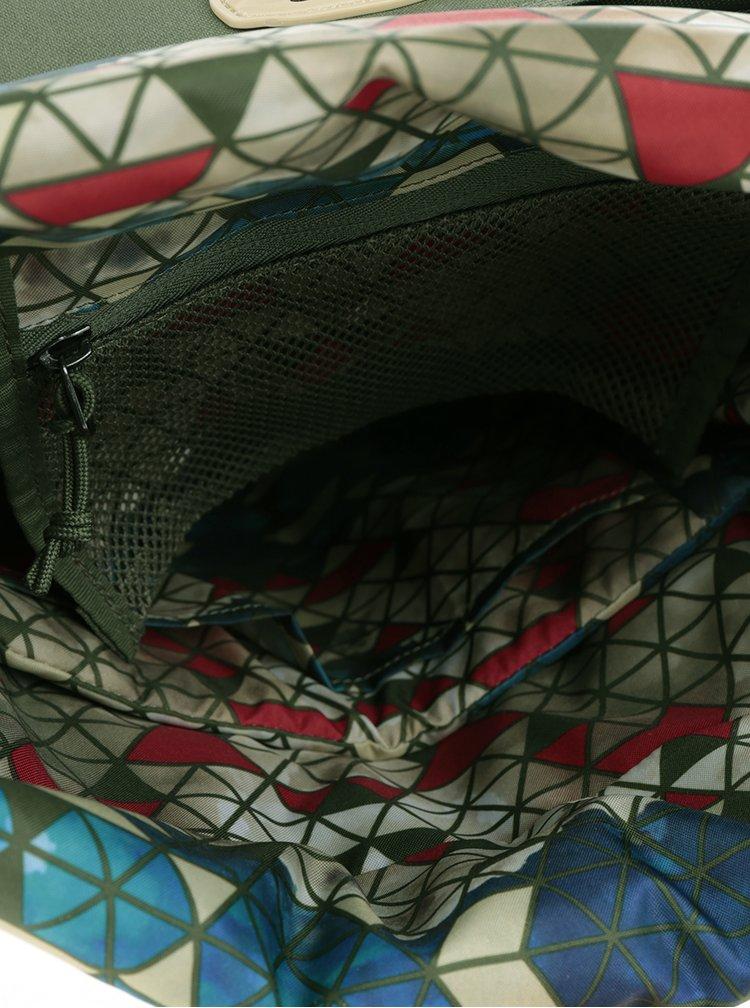 Krémovo-zelený batoh Case Logic Larimer  20 l