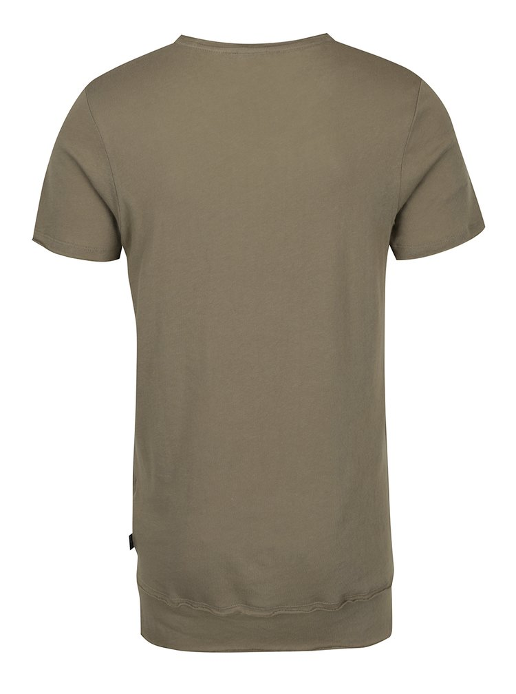 Khaki tričko s krátkým rukávem Jack & Jones Hem