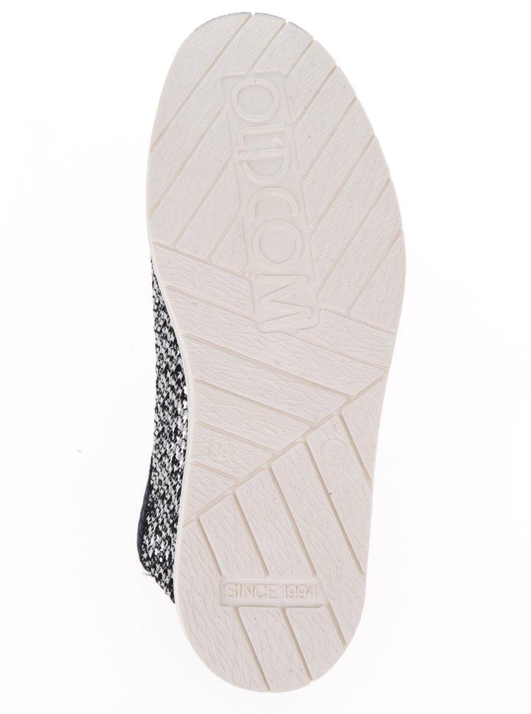 Bílo-modré perforované loafers Oldcom Summer