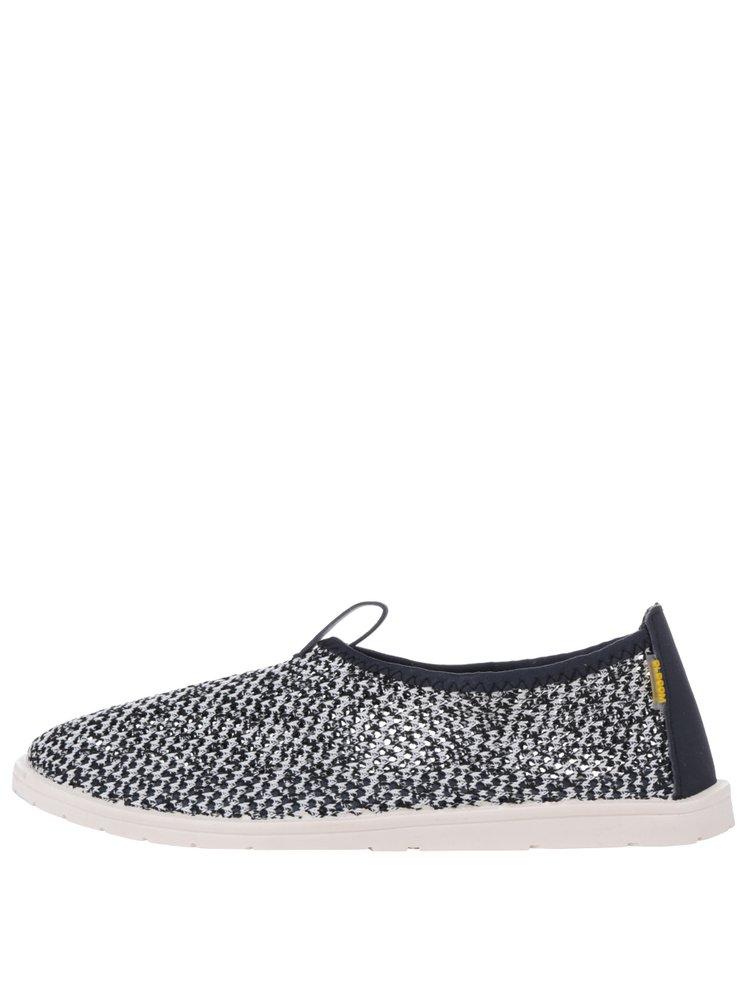 Bílo-modré pánské perforované loafers Oldcom Summer