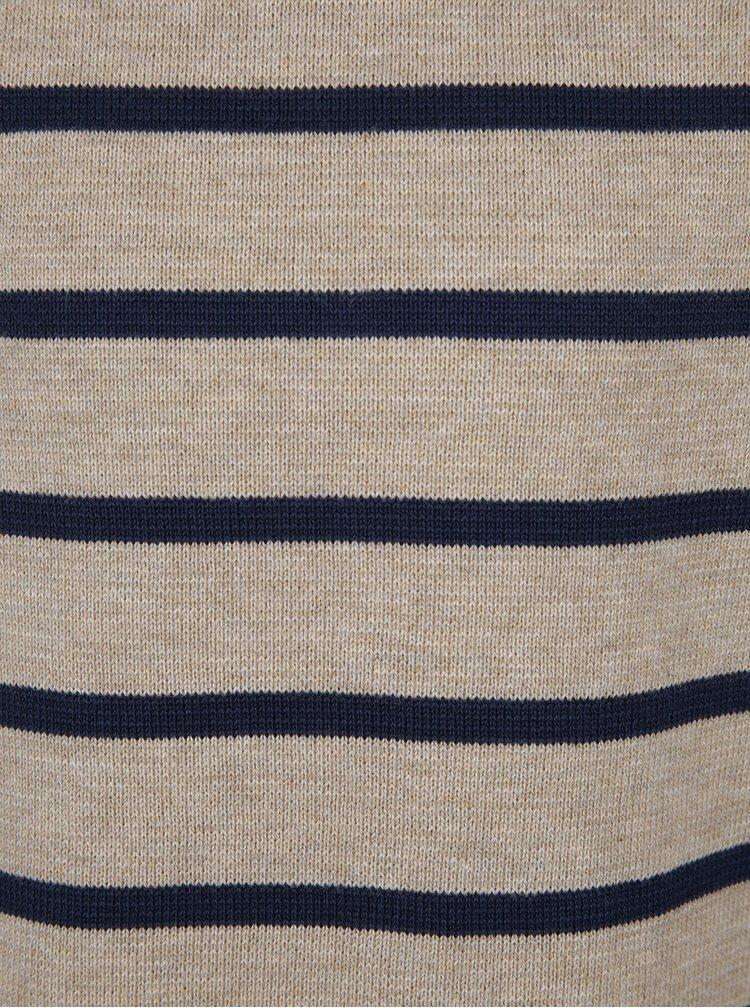 Modro-béžový klučičí pruhovaný svetr name it Gvar