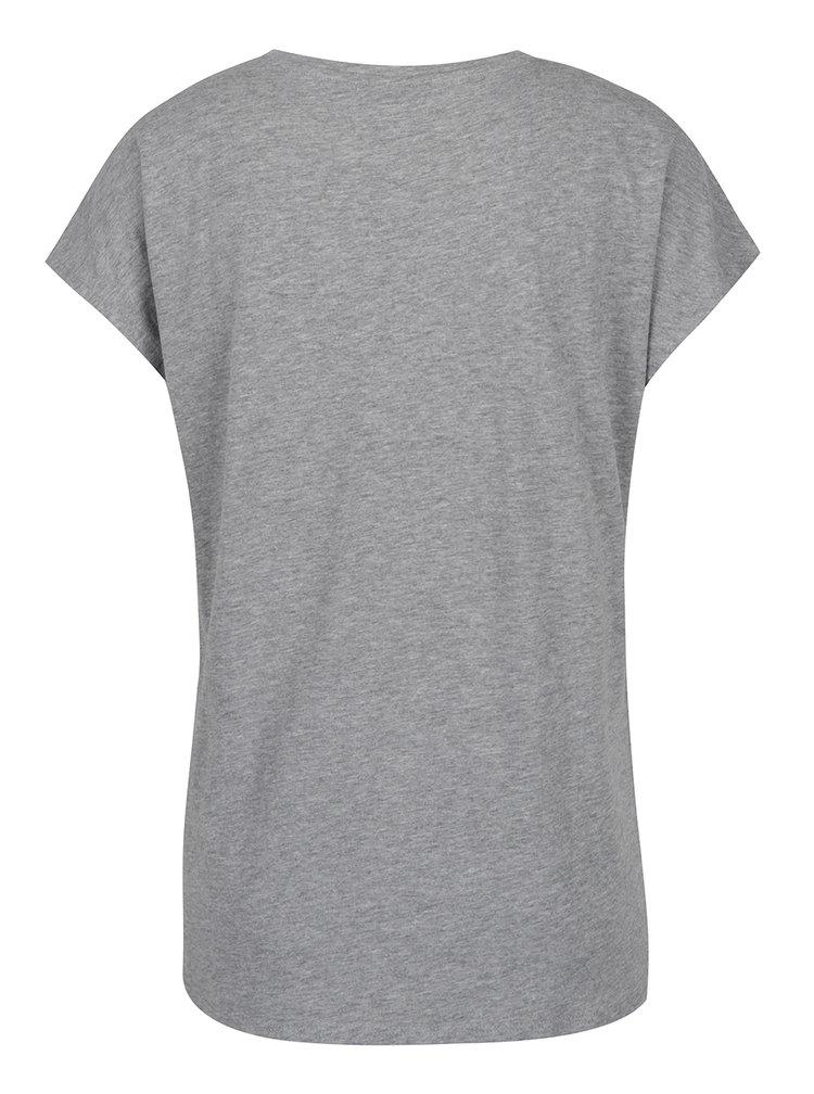 Šedé tričko s potiskem VERO MODA Nora