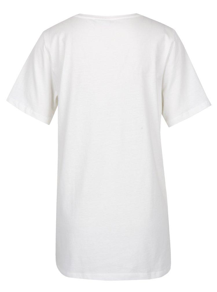 Tricou alb cu print inimă Noisy May Frank