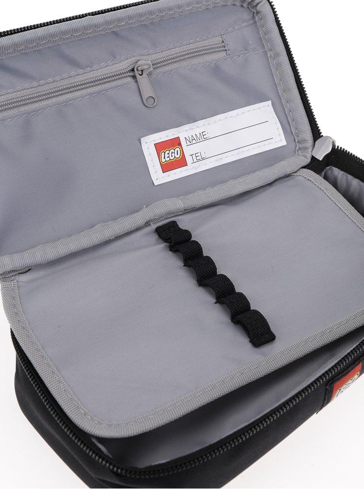 Šedo-černý klučičí penál LEGO Wear Ninjago Cole
