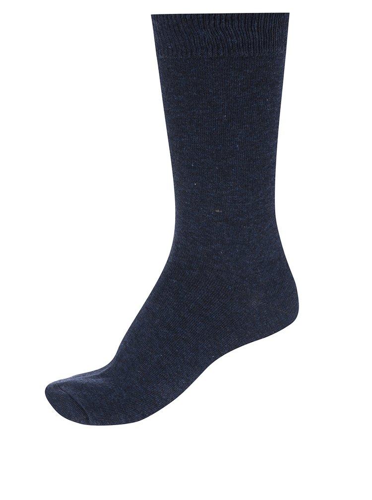 Súprava piatich párov modrých pánskych ponožiek M&Co