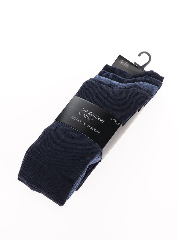 Set de 5 perechi de sosete model uni pentru barbati - M&Co