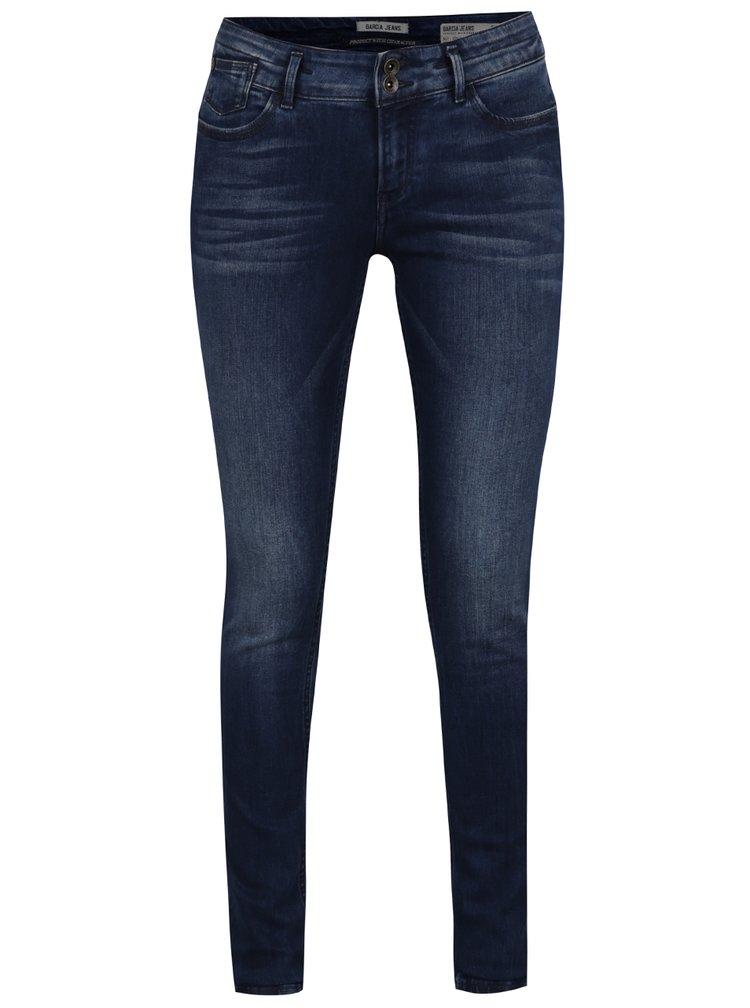 Tmavě modré dámské slim fit džíny Garcia Jeans Rachelle