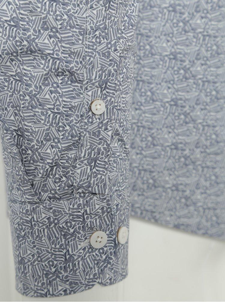Modrá pánská vzorovaná košile Garcia Jeans