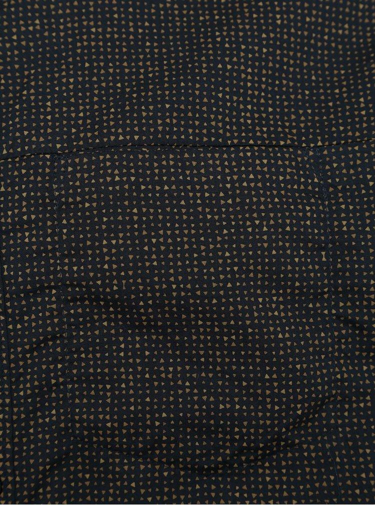 Tmavě modrá pánská vzorovaná košile s kapsou Garcia Jeans
