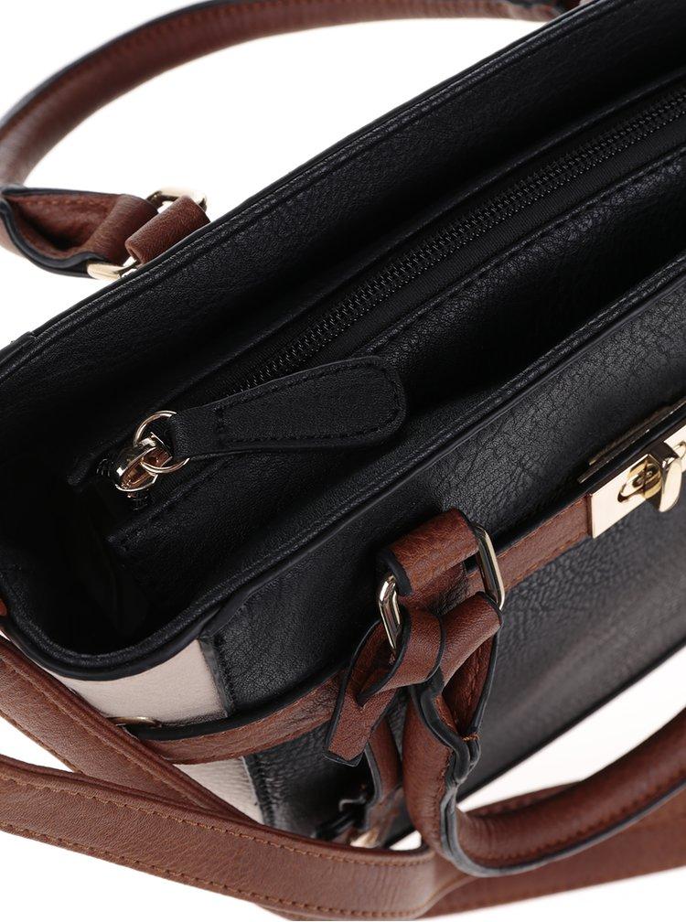 Hnědo-černá crossbody kabelka M&Co