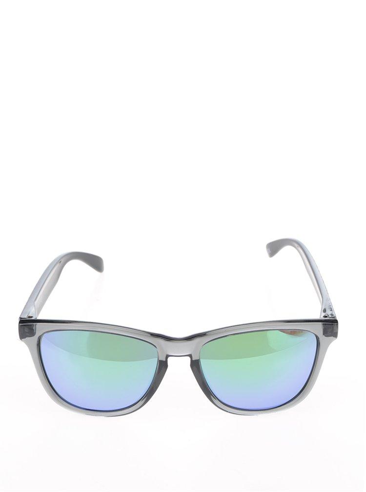 Šedé unisex sluneční brýle Emoji Alien