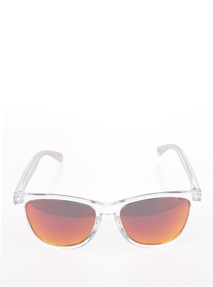 Transparentní unisex sluneční brýle Emoji Warhol Monkey