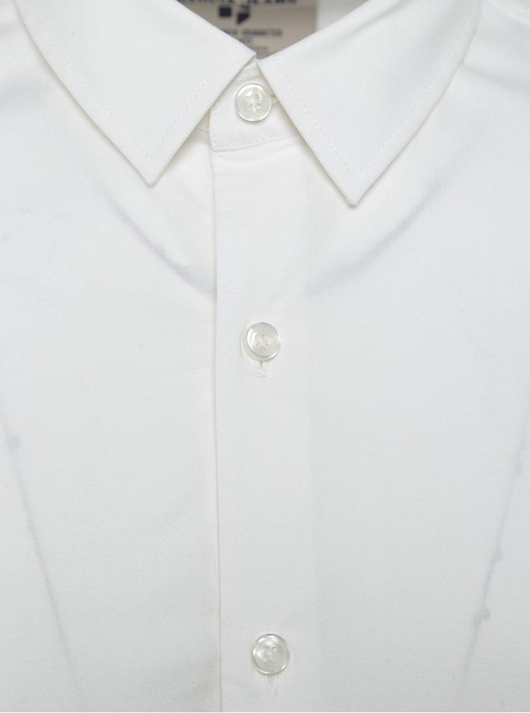 Bílá pánská formální košile s dlouhým rukávem Garcia Jeans Dario