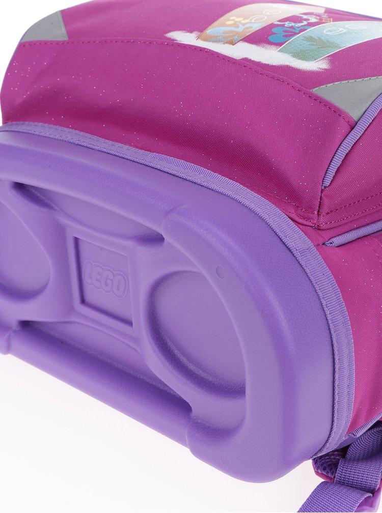 Růžová holčičí aktovka s batohem 2v1 LEGO Wear Friends Beach House Small 22 l