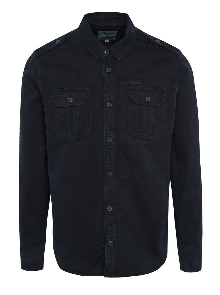 Tmavomodrá pánska košeľa s vreckami Garcia Jeans