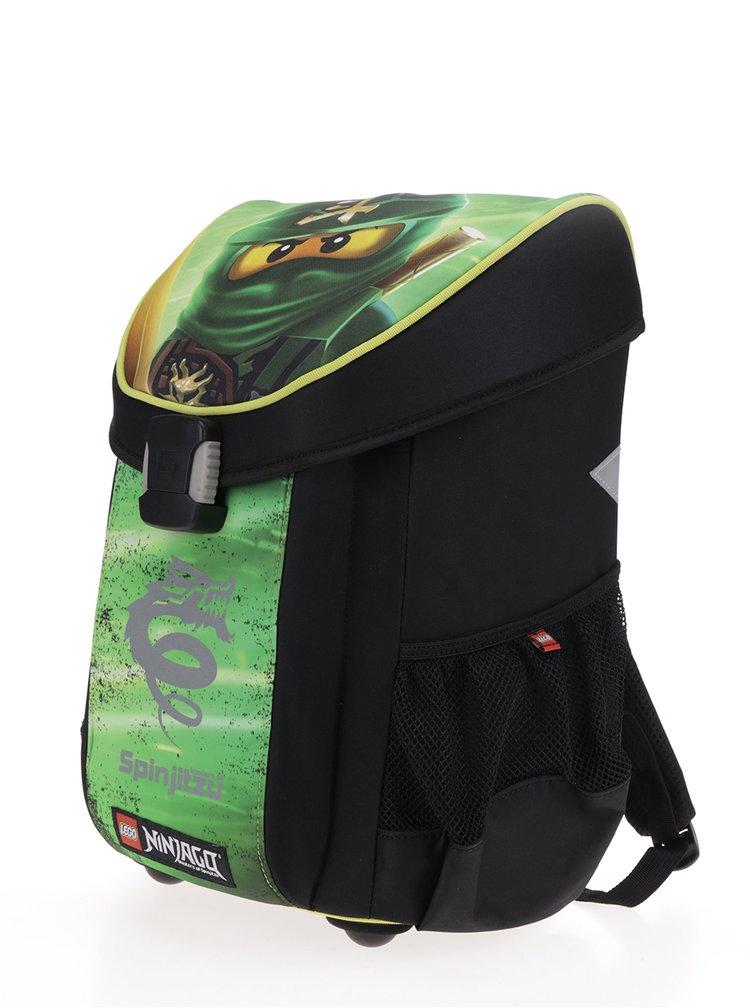 Zeleno-černá klučičí aktovka LEGO Wear Ninjago Lloyd Easy 21 l