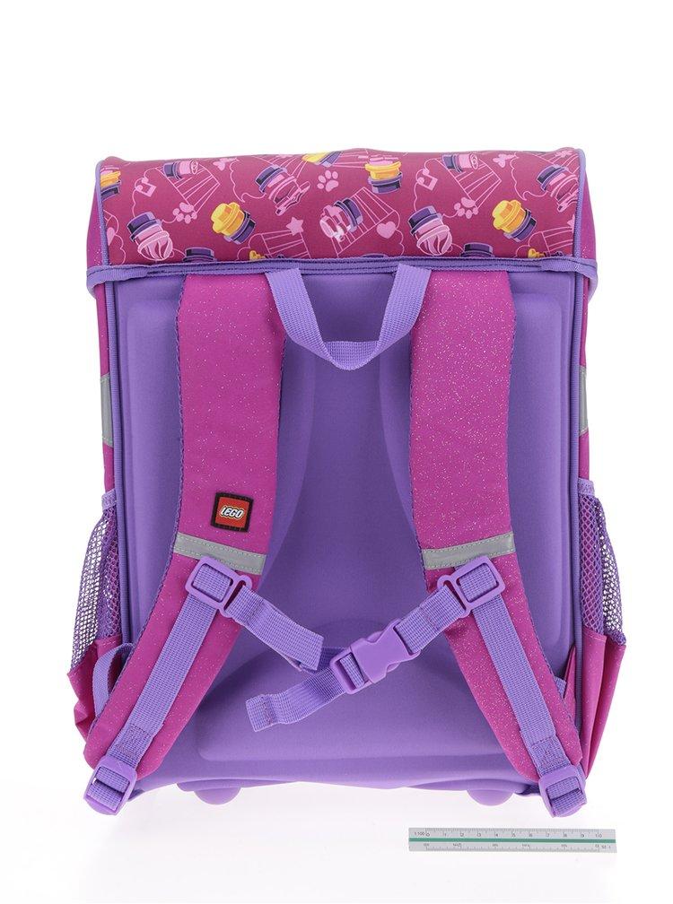 Fialovo-růžová holčičí aktovka LEGO Wear Friends Cupcake Easy 21 l