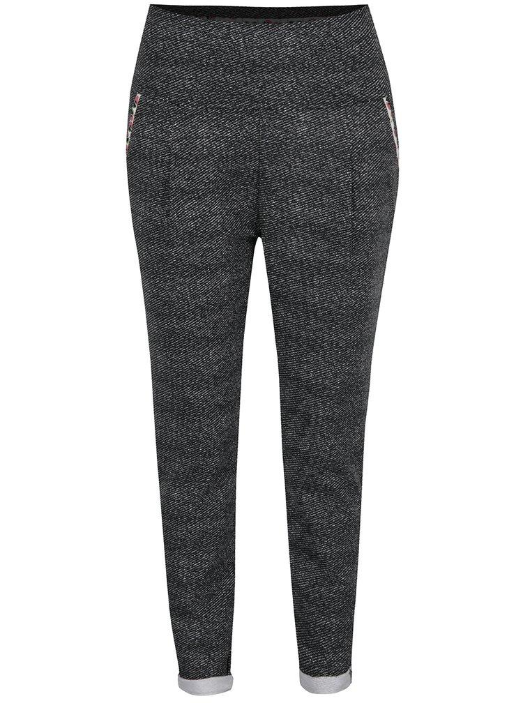 Pantaloni sport gri cu talie înaltă Blutsgeschwister