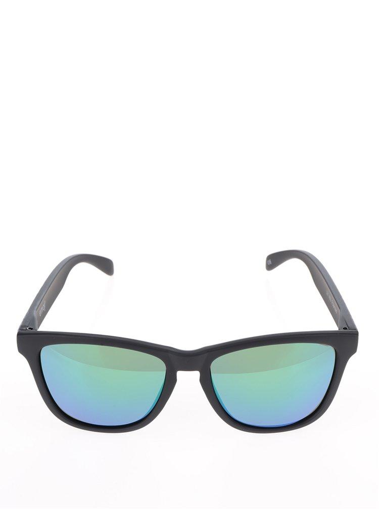 Černé unisex sluneční brýle Emoji Total Custom