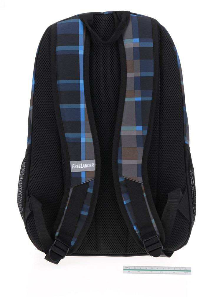 Černý klučičí kostkovaný batoh Freelander Multi Compartment 30 l