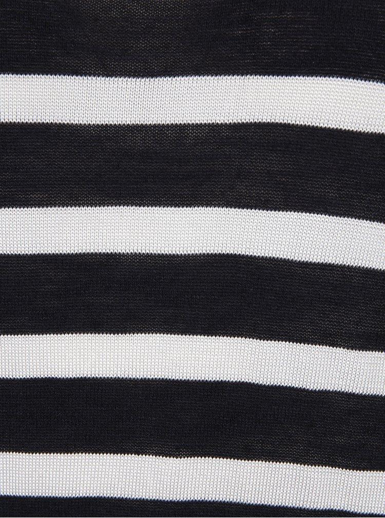 Černo-krémový dámský lehký pruhovaný svetr Garcia Jeans
