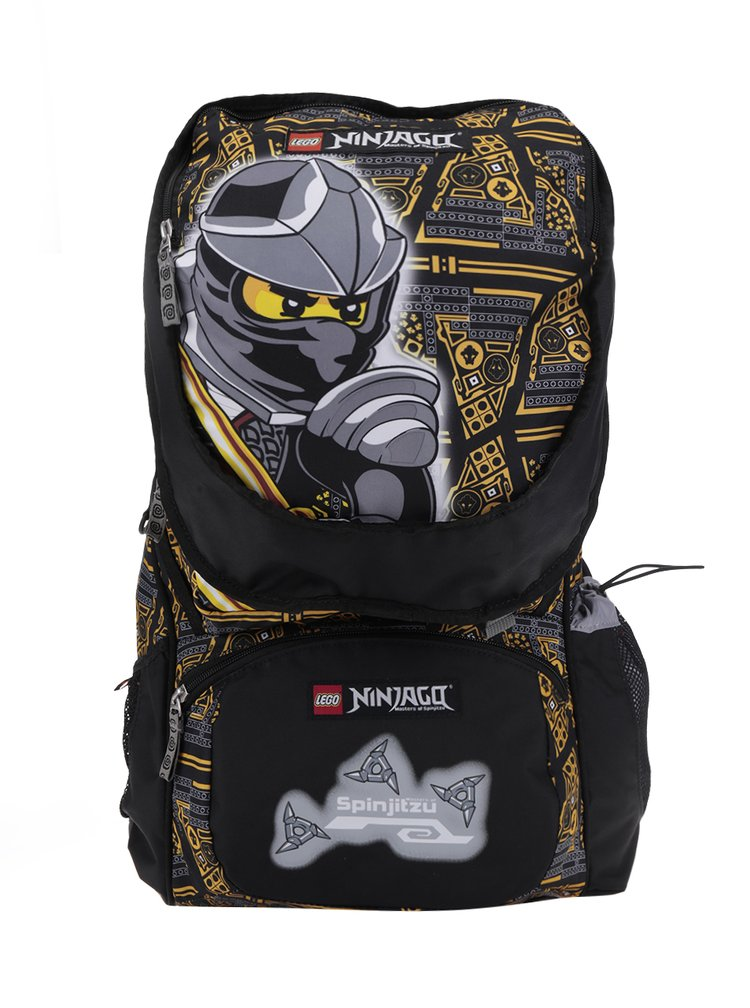 Černo-žlutý klučičí batoh s malým batohem 2v1 LEGO Wear Ninjago Cole 33 l