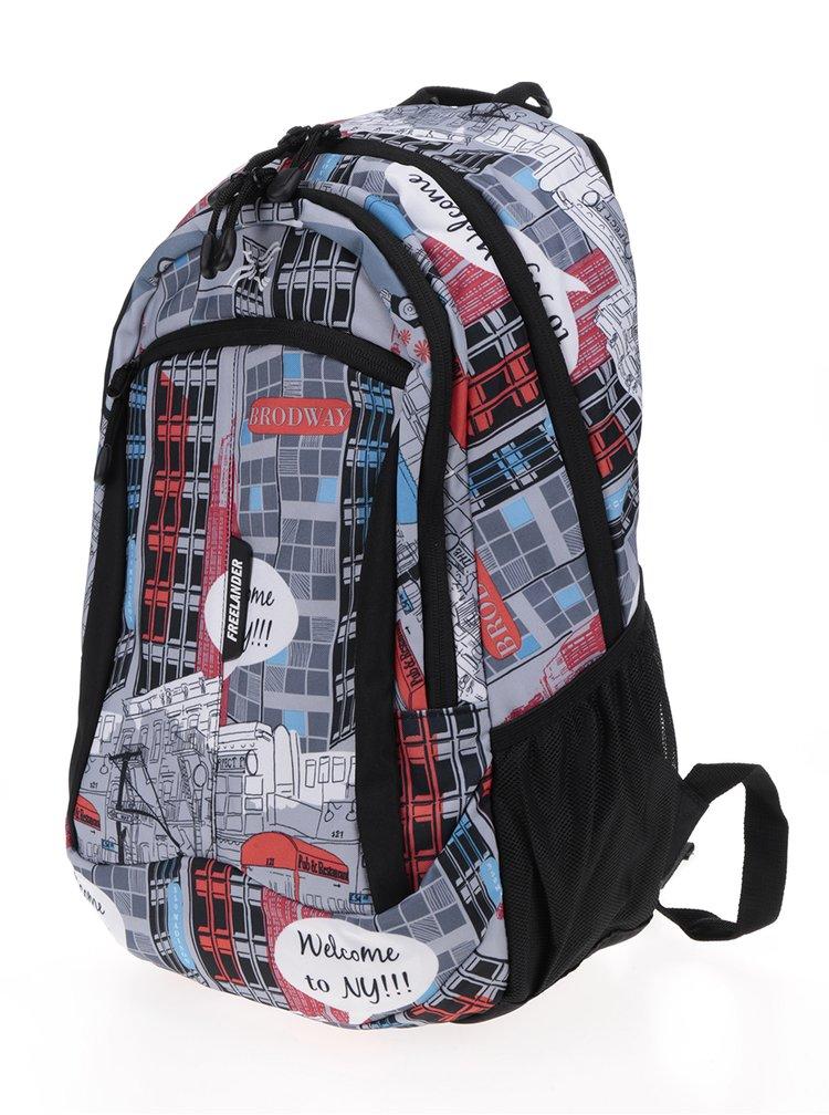 Šedý holčičí vzorovaný batoh Freelander Multi Compartment 30 l