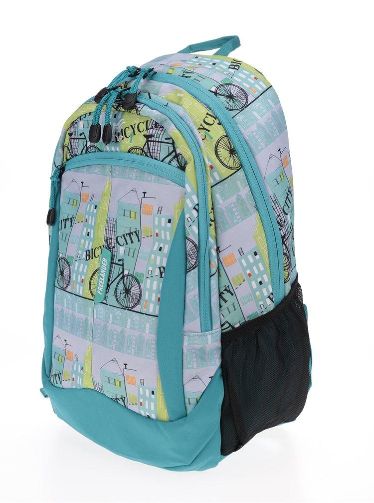 Zelený holčičí vzorovaný batoh Freelander Multi Compartment 30 l