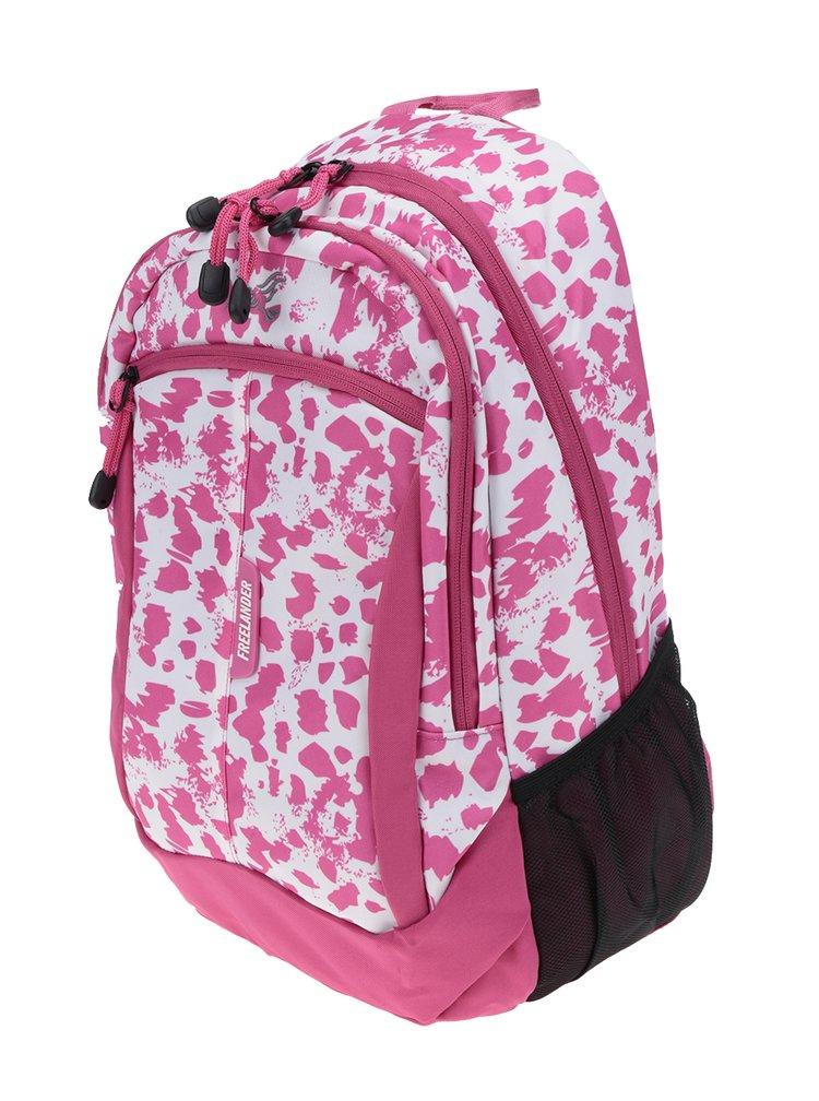 Ružový dievčenský vzorovaný batoh Freelander Multi Compartment 30 l